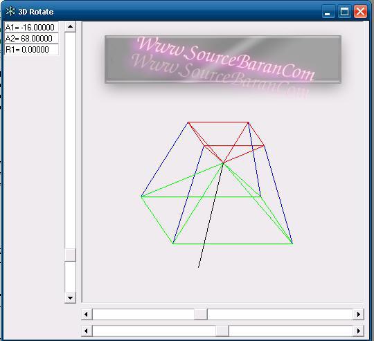 برنامه ۳D Rotate با زبان برنامه نویسی ویژوال بیسیک