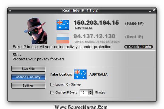 دانلود نرم افزار تغییر آی پی Real Hide IP 4.1.0.2